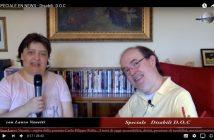 """CarloFilippoFollis.name – La Dott. Laura Vanetti di Enpleinair News intervista Carlo Filippo Follis per uno Speciale del TG EN News dal titolo """"Disabili DOC"""", un'immagine tratta dal video dell'intervista."""