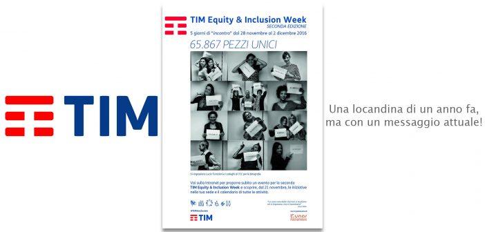 Al via l'Inclusion Week di TIM. Grazie per aver scelto di promuovere un mio libro!